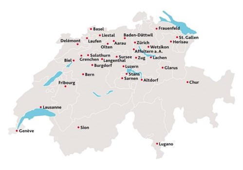 Switzerland 33 Locations